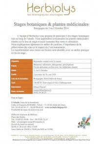 Programme du stage octobre 2014